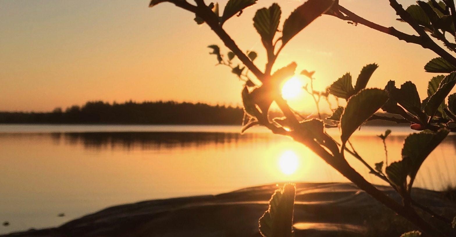 Solnedgång på Väddö